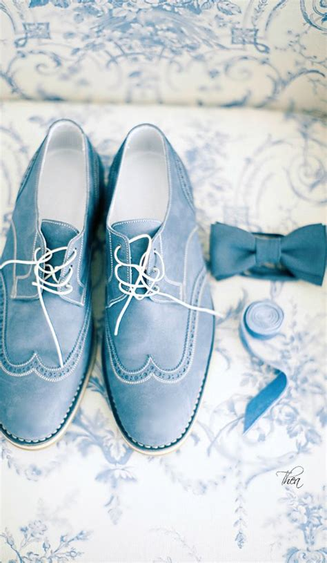 Schuhe Hochzeit Br Utigam by 11 Blue Grooms Shoes A Matching Bow Tie Look