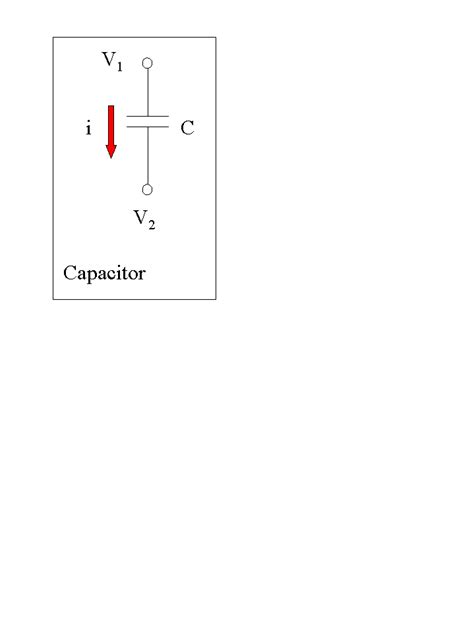 capacitor direction of current a1 5 the capacitor and its current voltage characteristic