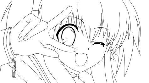 Anime Girl Coloring Pages Printable | free coloring pages of cat girl manga