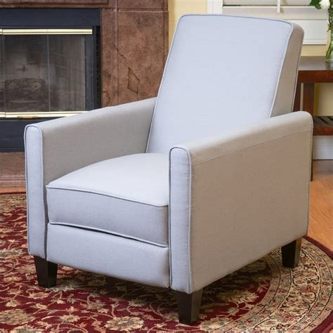 noble house trent home delouth recliner club chair in grey