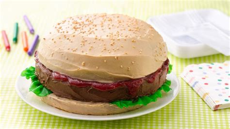 big burger cake recipe bettycrockercom