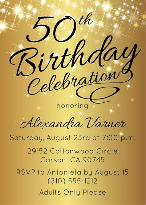 sle 50th birthday invitations birthday invitation 50th birthday invitation