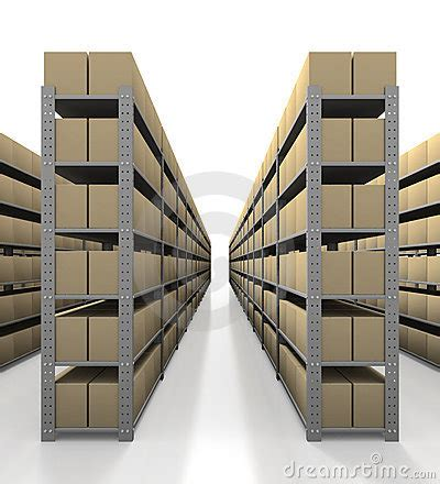 Warehouse With No Background Check Warehouse With Tidy Boxes Stock Photography Image