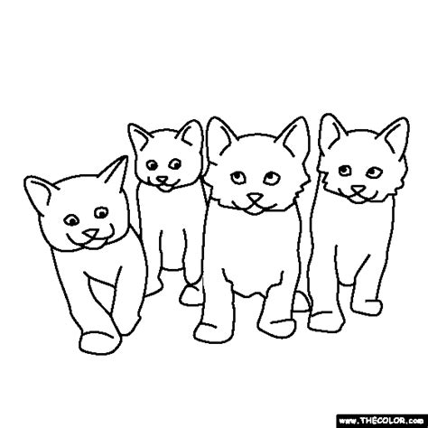 litter of puppies coloring pages litter of kittens coloring page
