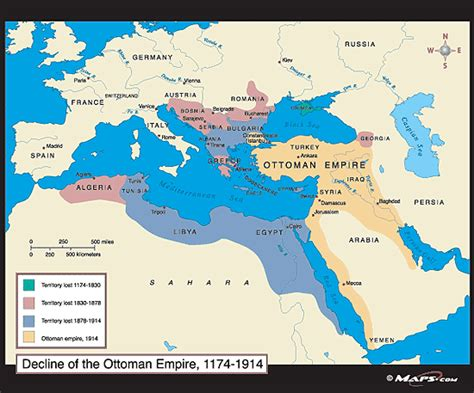map of ottoman empire 1914 decline of the ottoman empire map 1174 1914 by maps com
