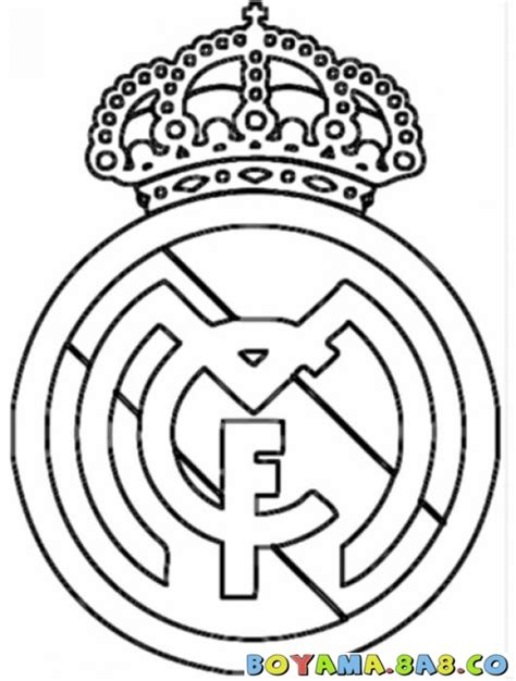realmadrid logo coloring pages