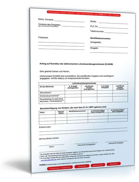 Elektronische Bewerbung Erstellen Antrag Auf Korrektur Der Elektronischen Lohnsteuerabzugsmerkmale