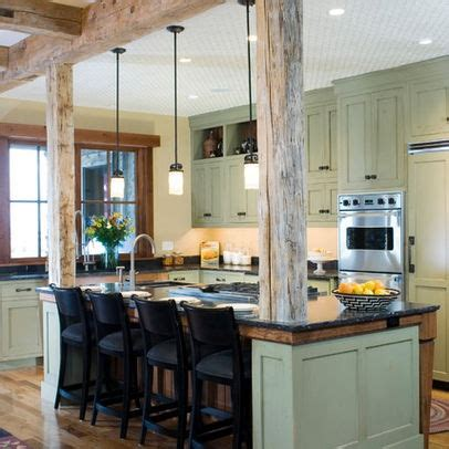 kitchen island with structural post kitchen exposed structural beam design ideas pictures remodel and decor kitchen
