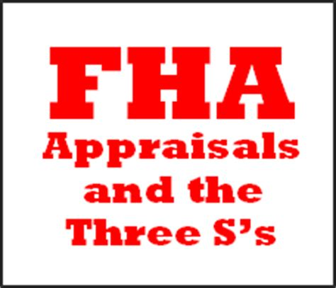 conventional loan house condition requirements fha appraisals the 3 categories which the appraiders check for minimum property