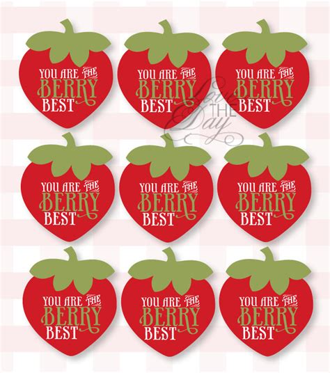 printable gift tags for employee appreciation teacher appreciation berry best printable strawberry party