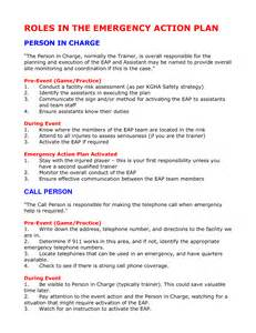 emergency plan template for sports emergency plan template cyberuse
