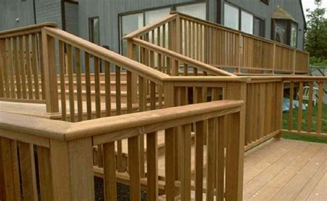 How To Make A Wooden Patio by Patio Deck Railing Design How To Build A Simple Wooden