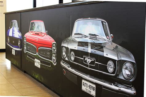car wall murals classic car counter zilla wraps
