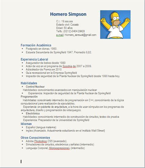 Plantilla De Curriculum Vitae Tematico Curriculum Vitae Dise 241 O Sonrisas