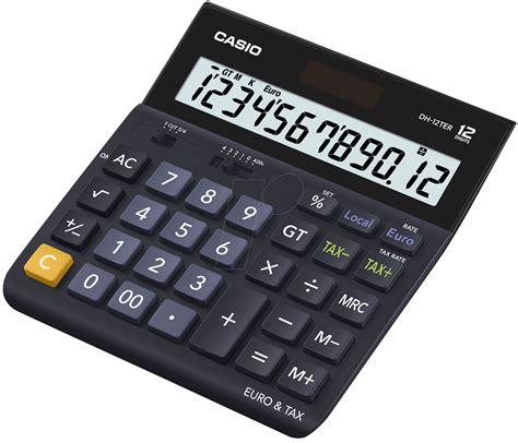 Calculator Casio Dh 12 casio dh 12ter casio desk calculator at reichelt elektronik