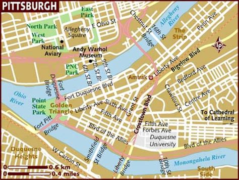 map of pittsburgh map of pittsburgh