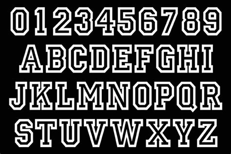 College Letter Font Name Bgconcepts Custom Names And Team Numbers