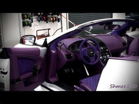 aston martin custom interior aston martin dbs with a purple interior walkaround youtube