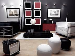 Red Black White Home Decor by Living Room Contemporary Red Black And White Living Room