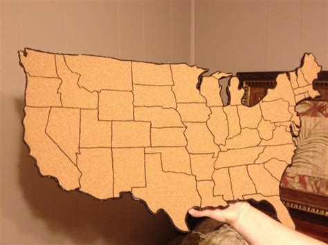 us map on cork board my cork board map of united states classroom ideas