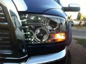 dodge ram 2009 2015 smoked projector headlights and led