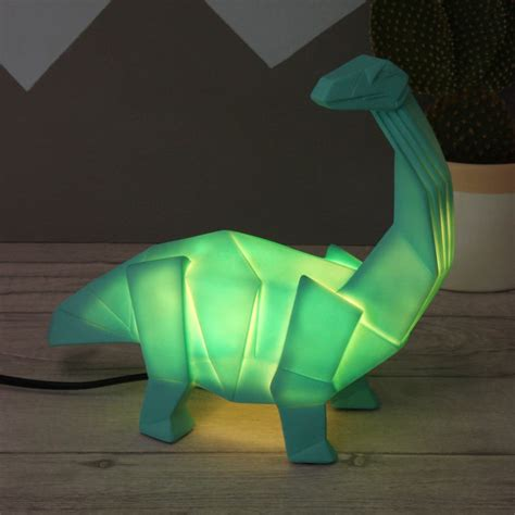 Origami Diplodocus - origami in dinosaur light by