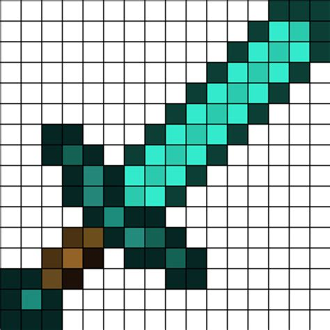 pattern generator minecraft minecraft diamond sword perler bead pattern mias 11th