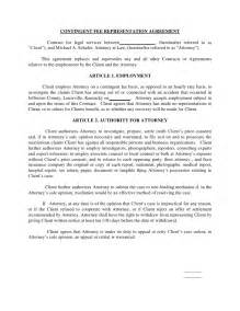 representation agreement template contingent fee representation agreement contract for