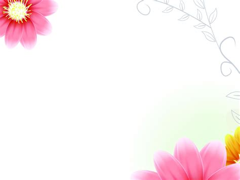 Free Green Vector Flower Backgrounds For Powerpoint Flower Flower Background For Powerpoint Flower Background For
