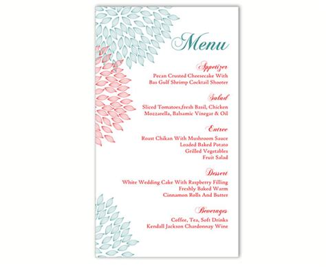 menu card templates free hooray papery menu cards