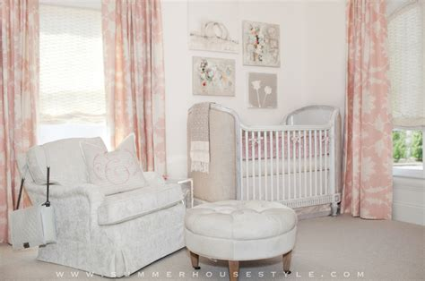 Pink Nursery Curtains French Nursery Summer House Style Pink Curtains For Baby Nursery