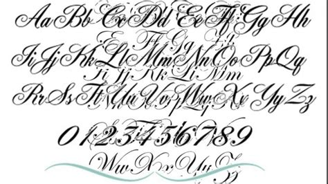 cursive tattoo fonts for men fonts designs ideas for part 5