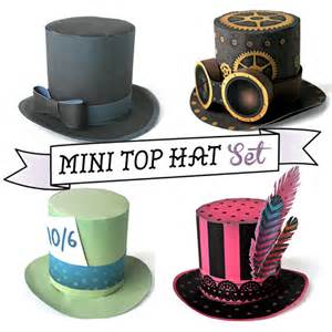 Mini Top Hat Template by How To Make A Mini Top Hat Tutorial Includes 4 Hats