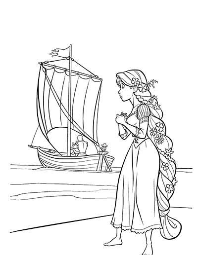 Tangled Coloring Book Pages