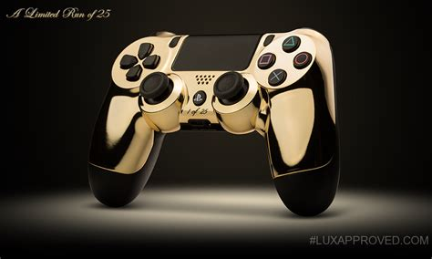 Gold Plated To Earphone With Controller And Mic1m colorware 24k ps4 dualshock 4 xbox one controllers