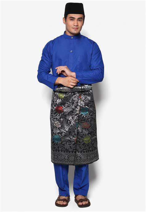 Baju Kurung Pahang Royal Blue baju melayu moden amar amran cotton royal blue aa1030bm amar amran boutique