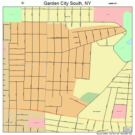 Garden City Ny To Nyc Garden City South New York Map 3628200