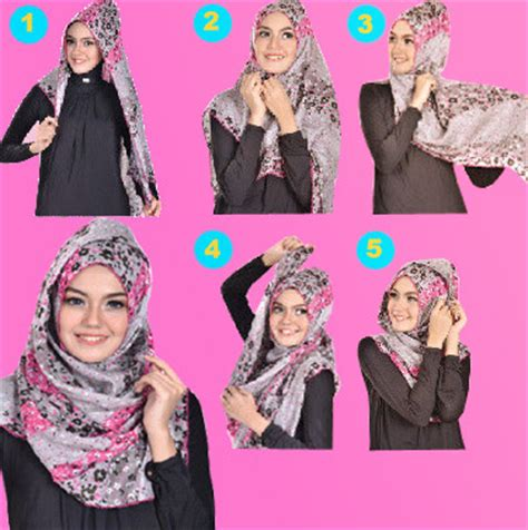 Kreasi Kerudung Segi Empat cara memakai jilbab segi empat kreasi