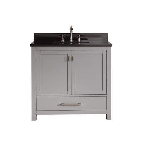 36 inch single sink bathroom vanity in chilled gray