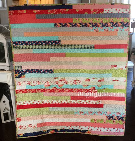 Jelly Roll Race Baby Quilt by Jelly Roll Race Quilt