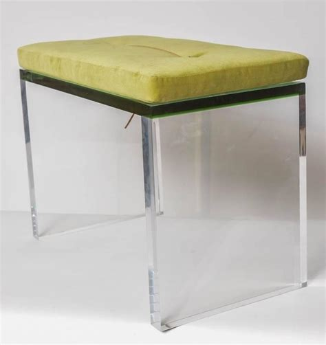 clear bench modern green and clear lucite bench at 1stdibs