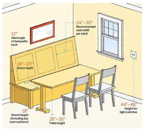 proper bench proper banquette seating proportions home decor tips