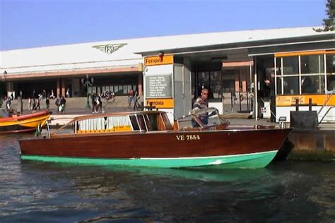 motor boat venice airport water taxi transfer from venice railway station santa lucia