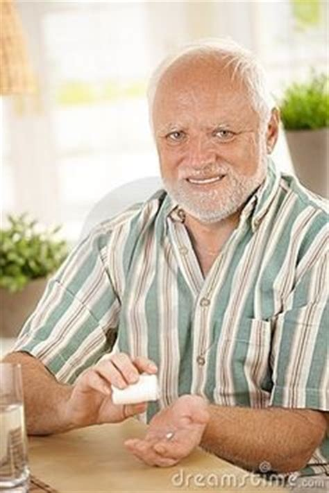 Old Guy Meme - hide the pain harold old guy stock photo model tortured