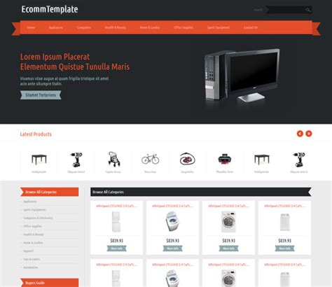 15 responsive bootstrap e commerce templates