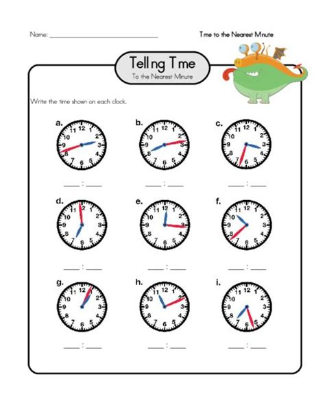 clock worksheet nearest minute free worksheets 187 time worksheets to the nearest minute