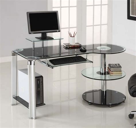 Glass Corner Desks by Organizing A Glass Corner Desk Interior Exterior Homie