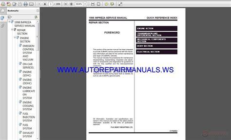 online auto repair manual 1998 subaru impreza free book repair manuals subaru impreza g10 1998 service manual free auto repair manuals
