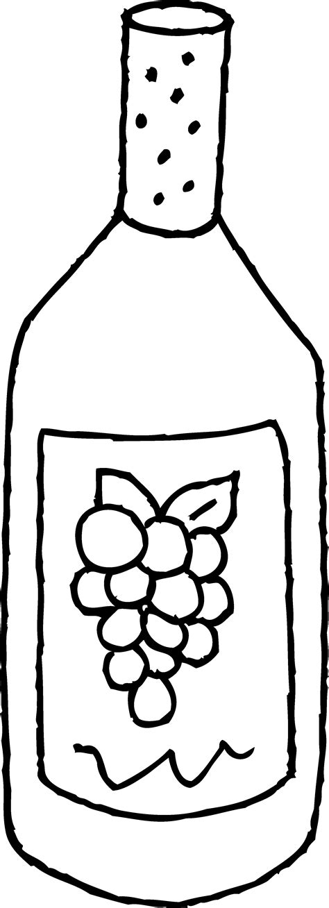 glass of wine coloring pages