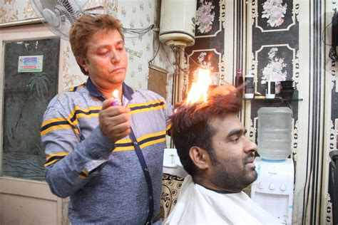 haircut story sikh indian barber sets hair on fire to give a great haircut